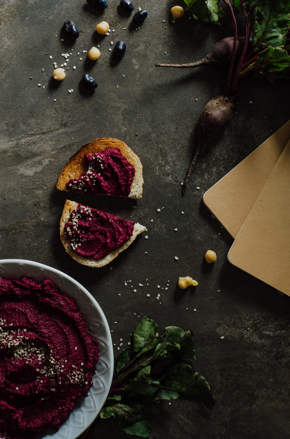 beet hummus - the nomadic wife - riverbend gardens