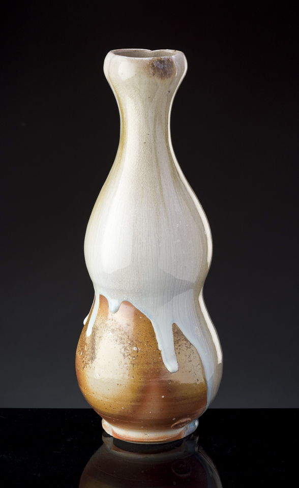 Woodfired pottery from the Fushigigama woodkiln at the Sharon Arts Center.