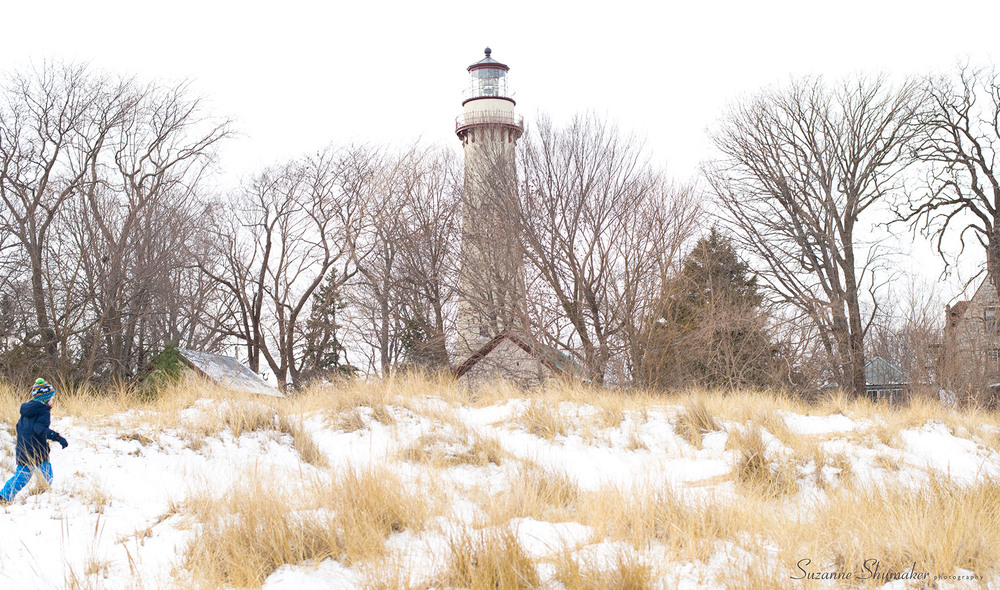 New Year's Family Walk ~ Lighthouse Beach, Evanston