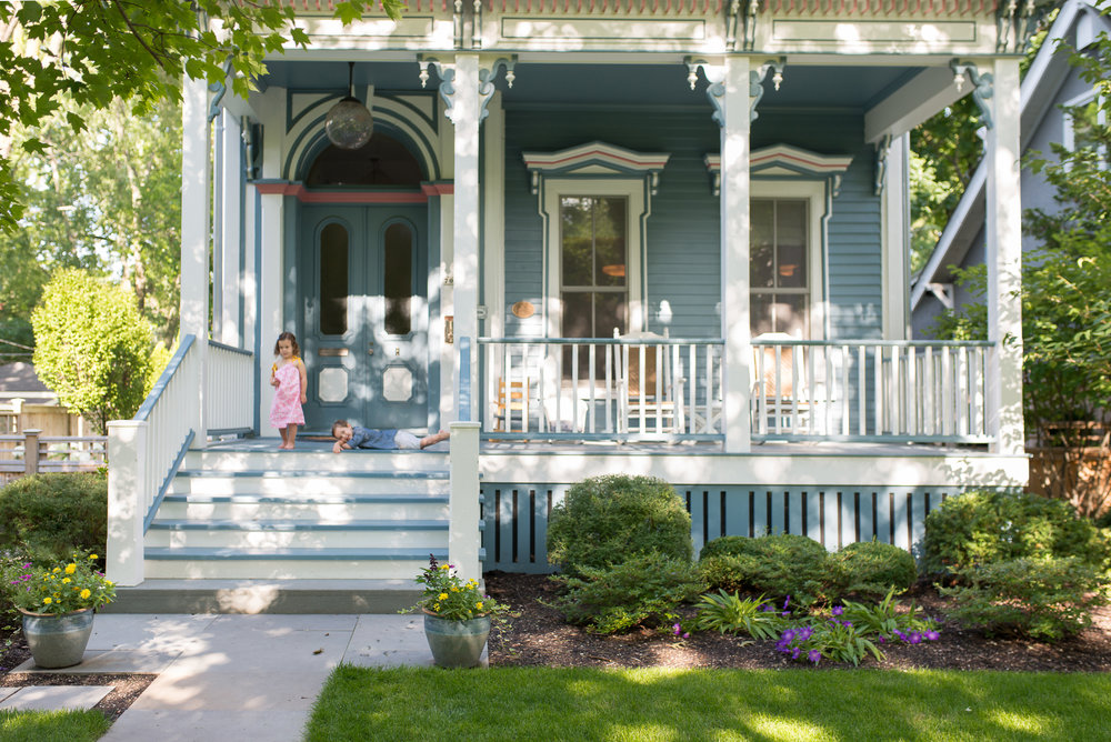It all started with a porch. (2013, City of Evanston, Preservation and Design Award/Sensitive Alteration.) Italianate House.