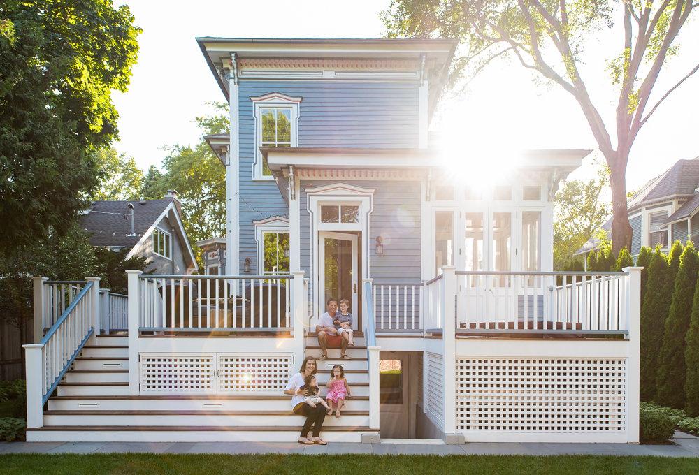 Rear addition (2018, City of Evanston, Preservation & Design Award/Sensitive Addition.) Italianate House.
