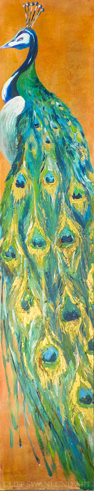 """sold- """"Peacock"""" - 12"""" X 48"""""""