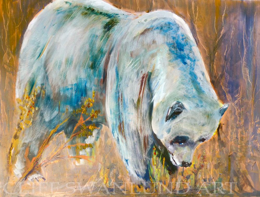 """available- $1200.00 framed-""""Bear"""" - 24"""" X 30"""" - contact artist"""