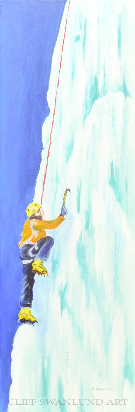 "sold-""Climber II""- 12"" X 36"""