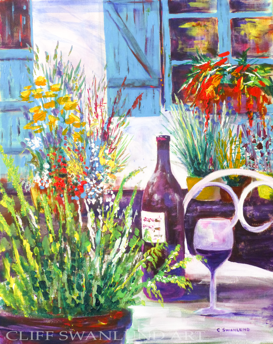 "Bordeaux - 24"" X 30"" - SOLD"