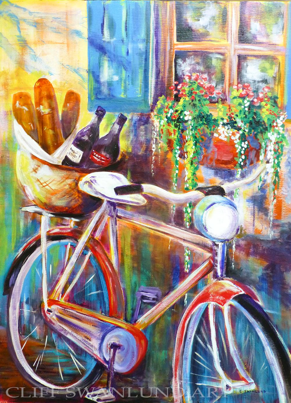 "sold- La Bicyclette I 24"" X 30"""