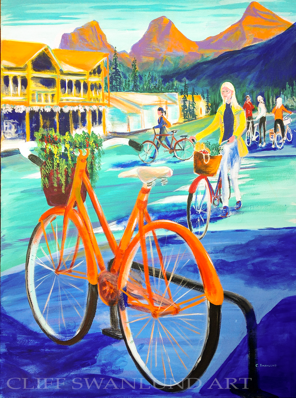 "Canmore Bicycle 24"" X 30"" - SOLD"
