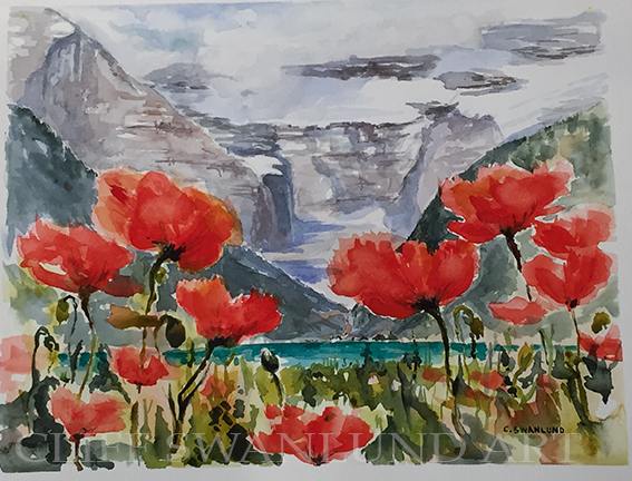 "Poppy Paradise - 11"" x 14"" - $685 Framed"