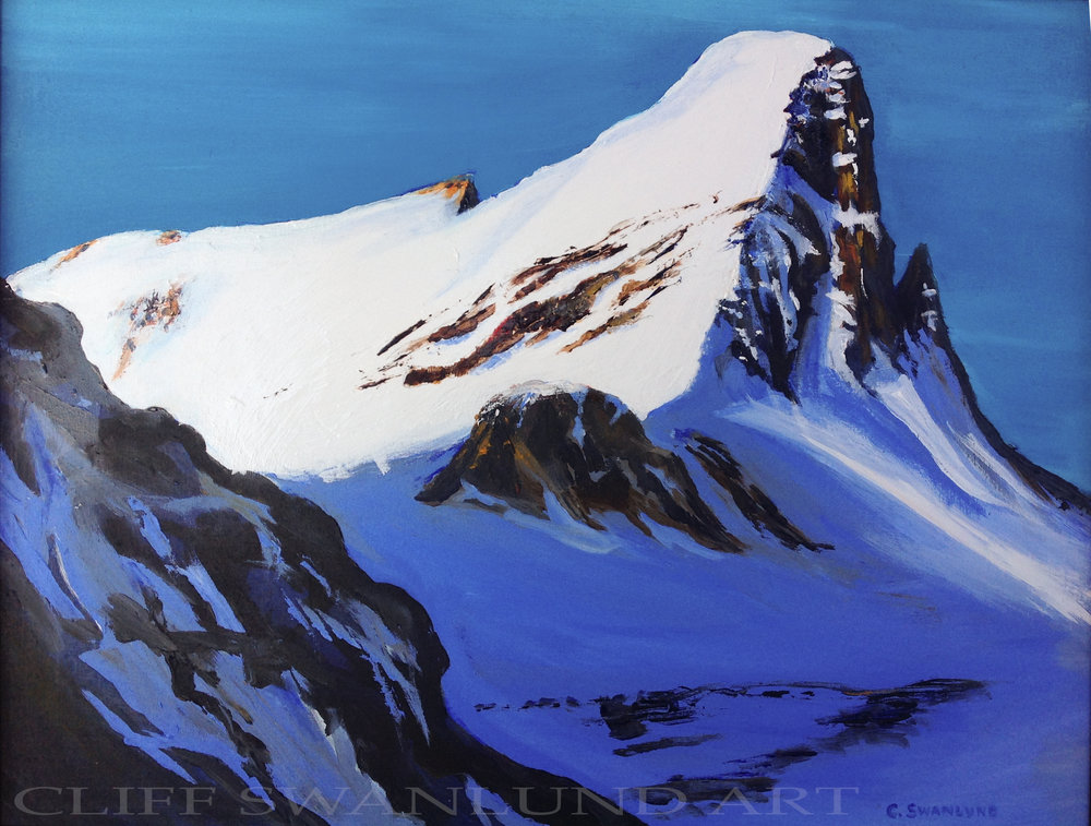 "Mount st Nicholas - 16"" x 20"" on board - SOLD"