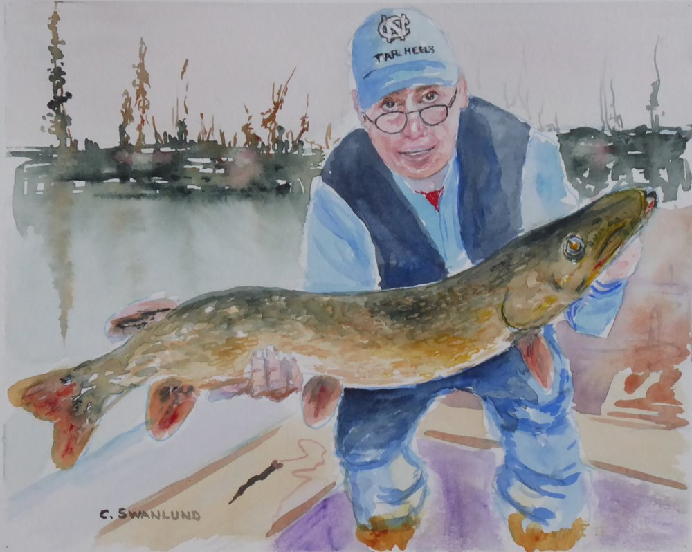 "The World's Greatest Pike Fly Fisherman - 10"" x 8"" - available at WCDS auction in Regina, SK"