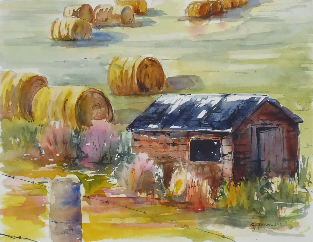 "Abandoned Shed - 10.5"" x 13.5"" - available at Stephen Lowe Gallery, Calgary, AB"