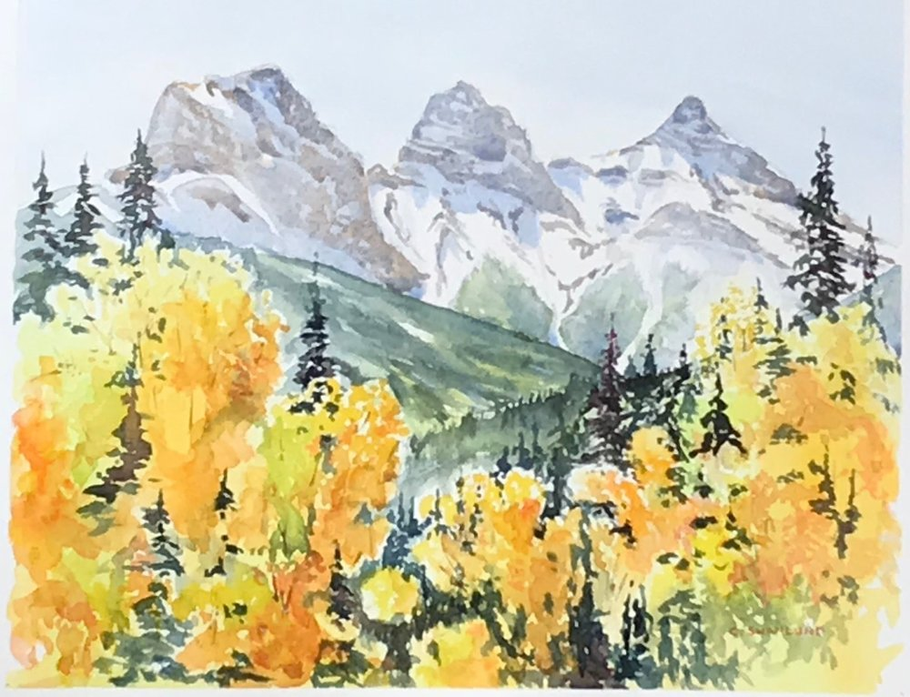 "sold-- ""Across the Valley"" 11 by 14"