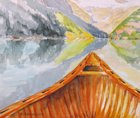 "available-$565.00 framed-""Morning Calm at Lake Louise""- 11 by 14 --available at Stephen Lowe Art Gallery"