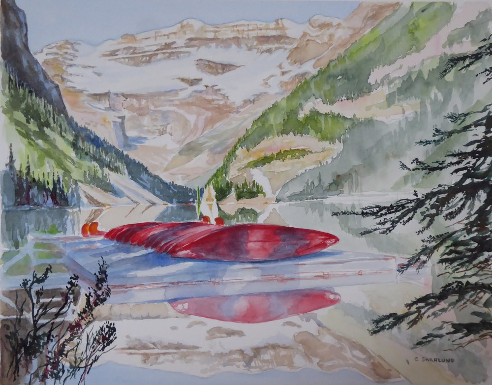 "sold- 11 by 14- ""Peaceful Lake Louise"""