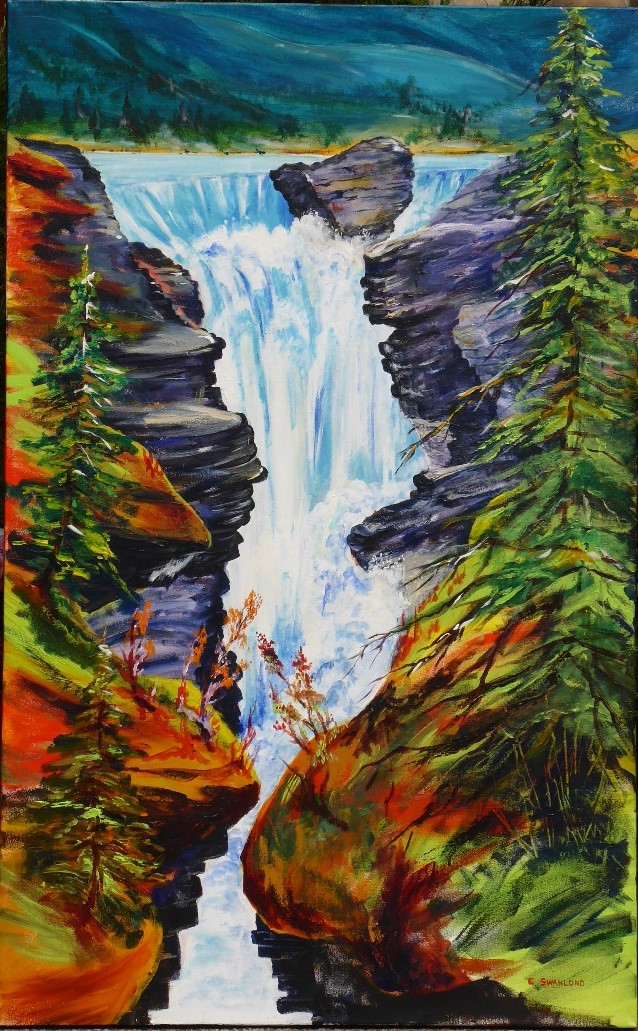 """available-$1200.00- """"Thundering Athabaska""""-available at the Market Bistro, Canmore , AB"""