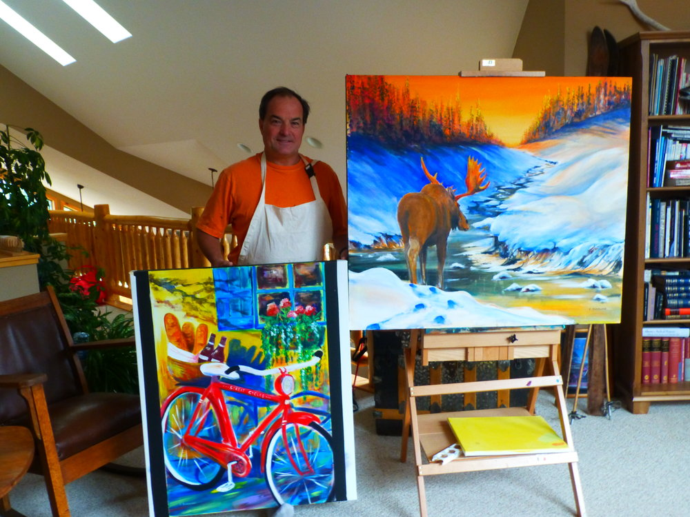 Cliff in his Art Studio in Canmore. 2015