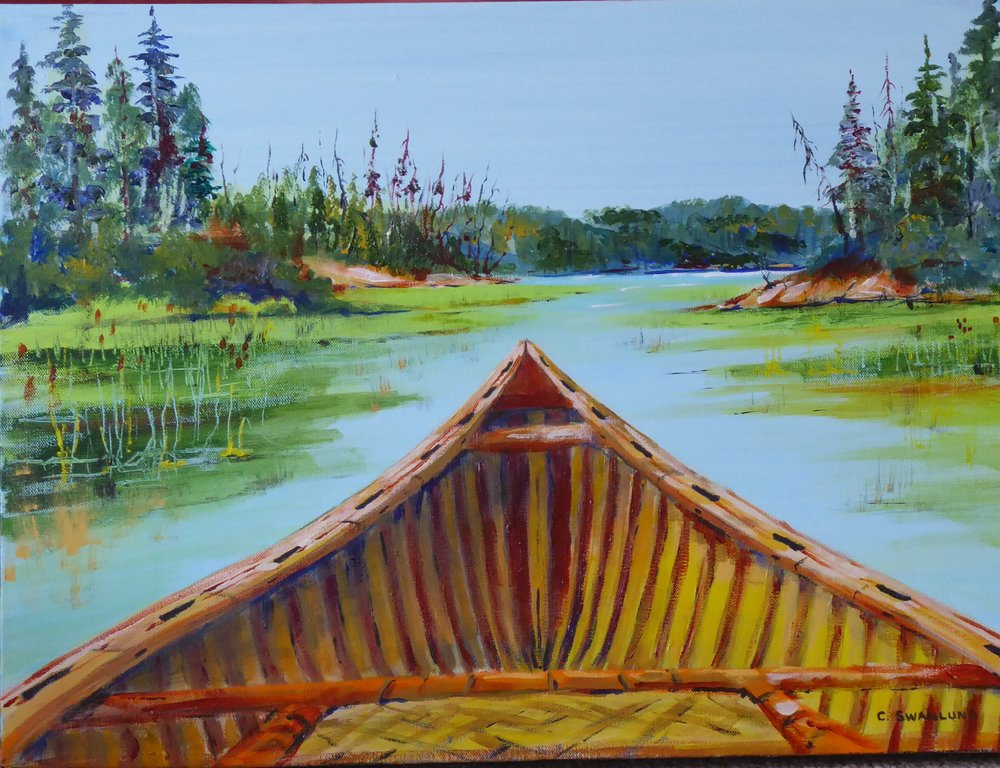 """sold-""""Solo Paddle""""-18' x24'"""