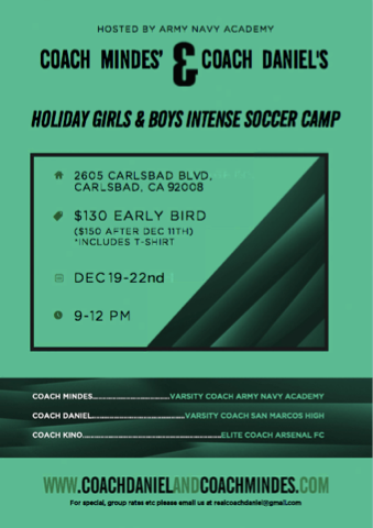 Holiday camp is coming up!!!