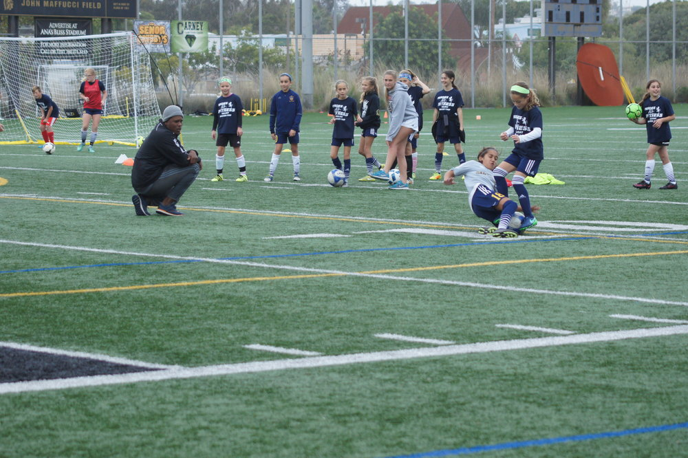 Don't neglect the physical part of your game. Commit, tackle strong, make your opponent think twice next time they go up against you. Super great slide tackle by young Melia!