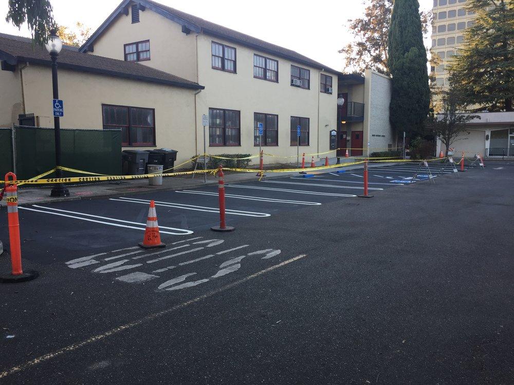 2018-10-15 Parking lot restriping