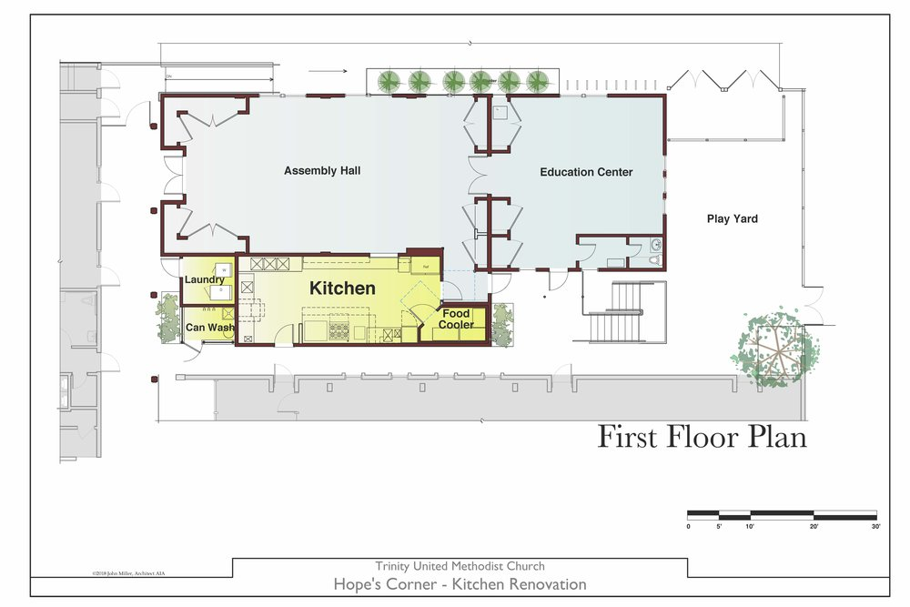 New kitchen floor plan