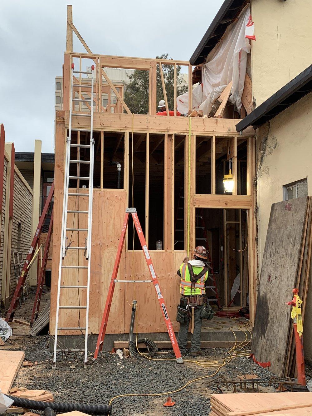 12-28-2018 Working on second floor