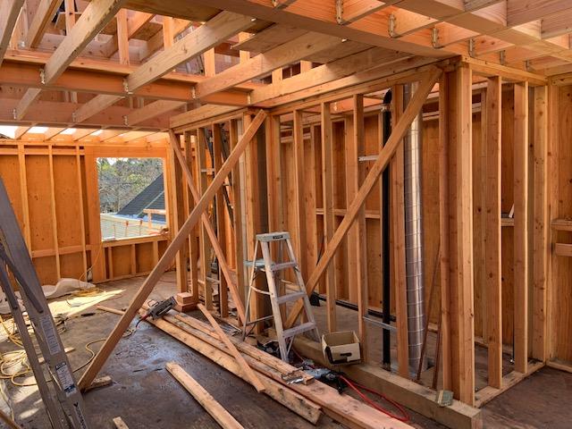 1-22-2019 Second floor construction