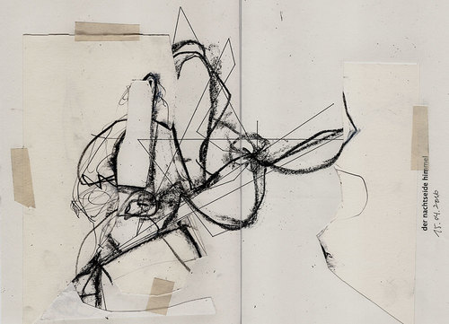 Drawing With No Lines : Work 2016 no.4 »desire path studies for painting i« u2014 tomaso carnetto