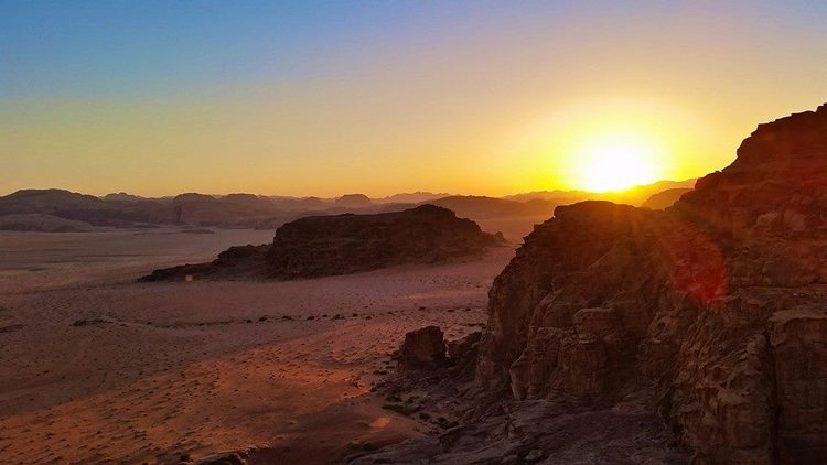 "The 2015 film ""The Martian"" was shot in Wadi Rum, and it's not hard to see why... This desert landscape looks very much like it belongs on an entirely different planet."