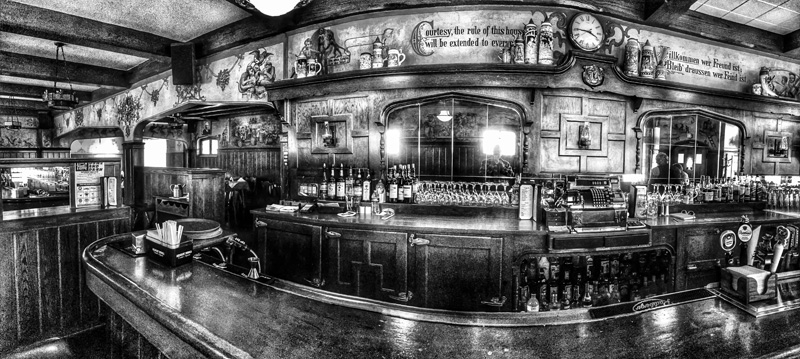 They say, the bar at Kegel's Inn was the longest solid piece of mahogany west of Philadelphia for many years.