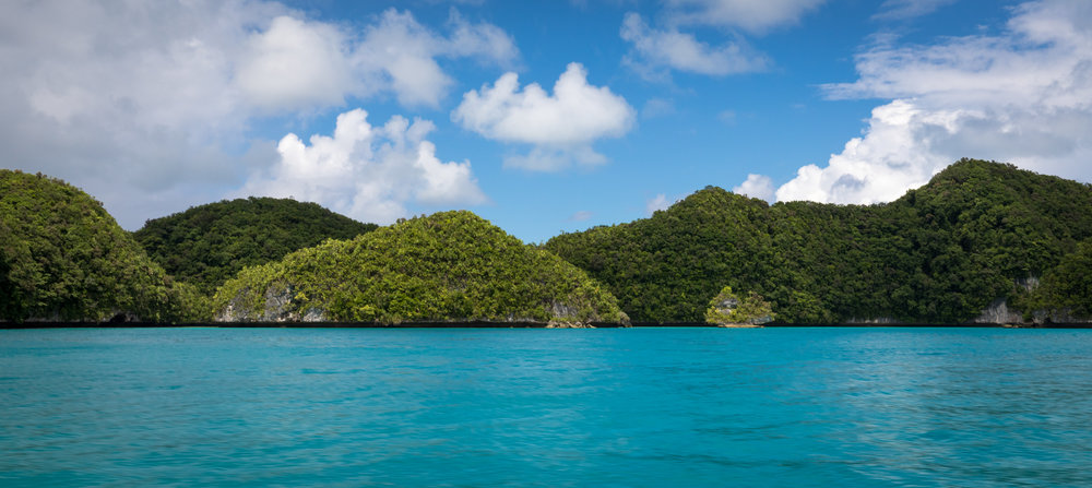 The iconic Rock Islands of Palau.