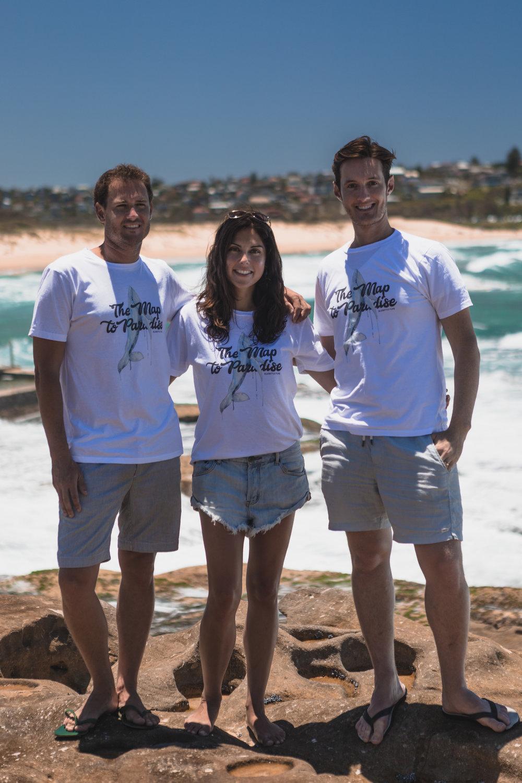Directors James Sherwood & Danielle Ryan, with Composer Daniel Clive McCallum - Curl Curl Beach, Sydney - Australia