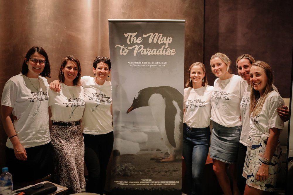 The Map to Paradise volunteer crew at a private screening for Australian ocean stakeholders.