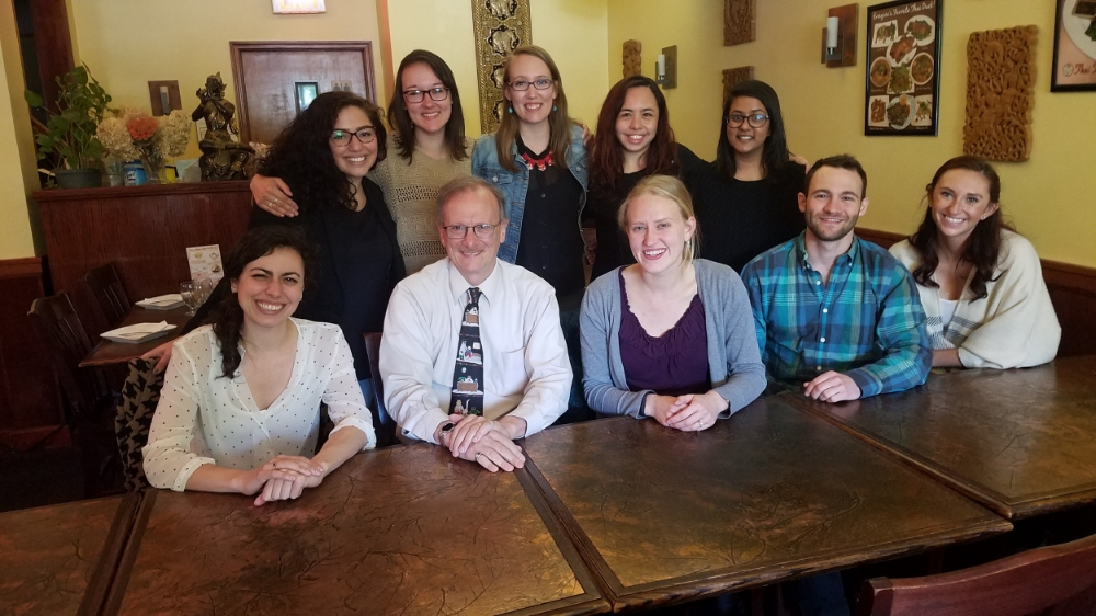Dr. Elias with 2015-2016 Graduate Students, Lab Coordinators, and Research Assistants