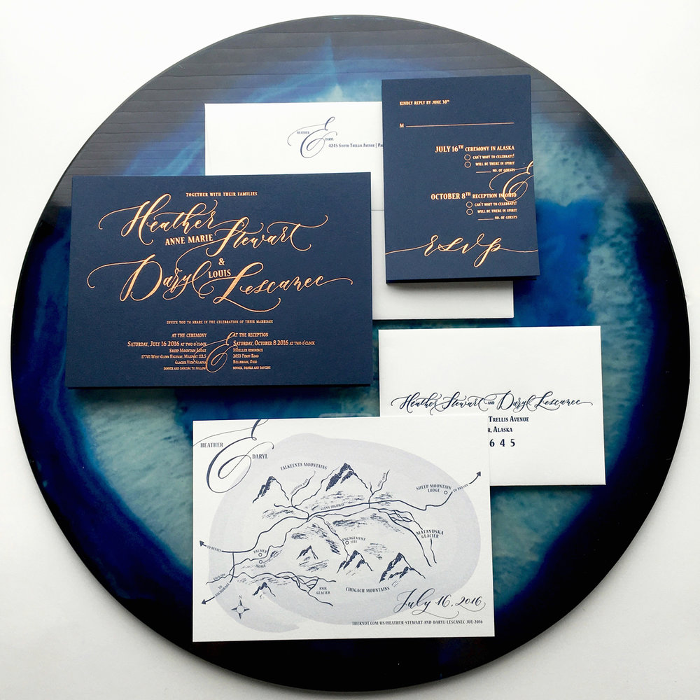 copper-and-navy-custom-wedding-map-calligraphy-foil-invitation-angeliqueink-1.jpg