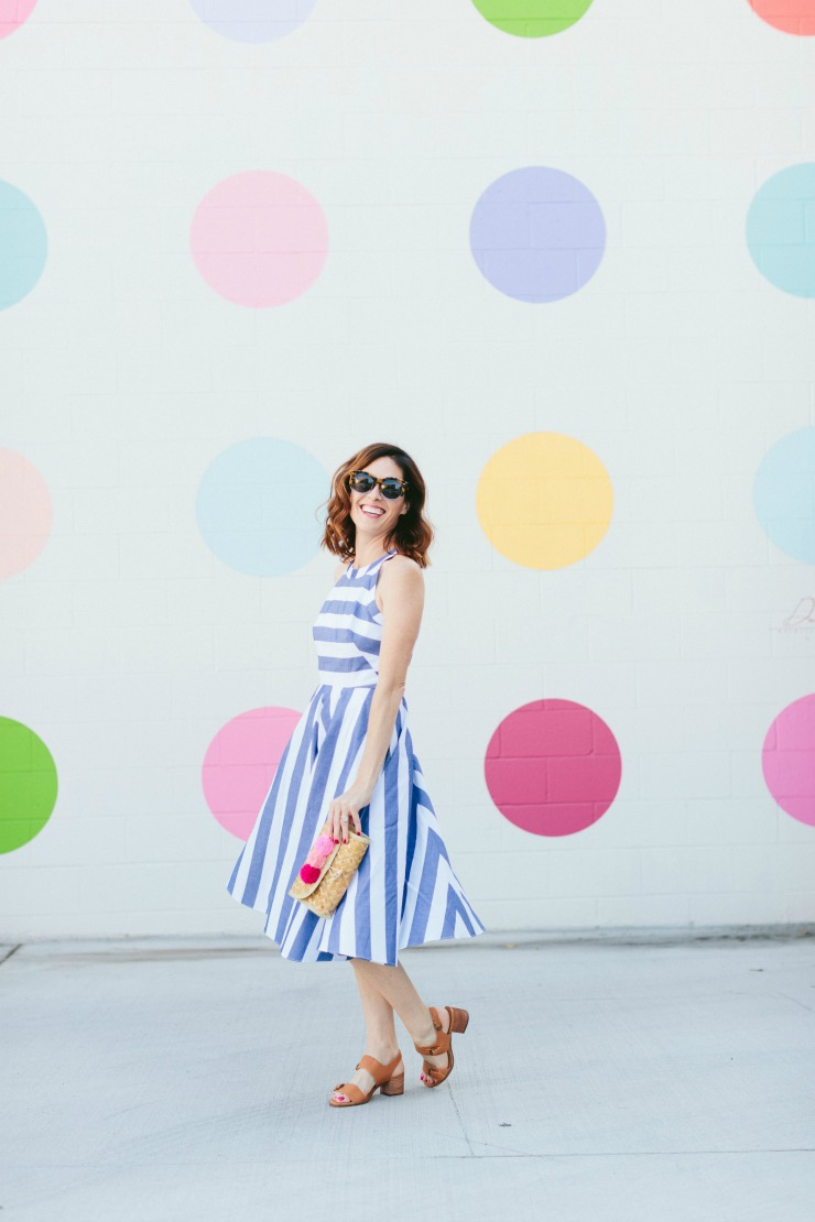 blue striped dress fit and flare eliza j conni jespersen.jpg