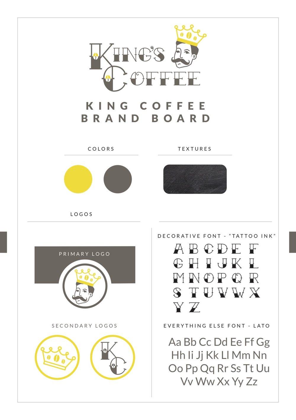King Coffee Brand Board.jpg