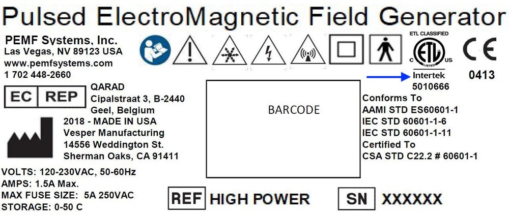 Sample Electrical Safety Label