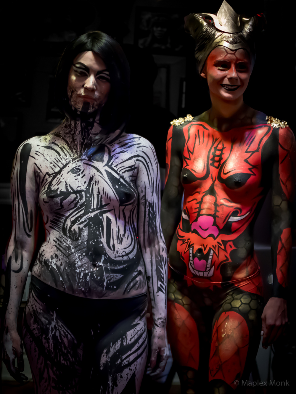 Trista & Kay at Zodiac Roux (Body Paint).jpg