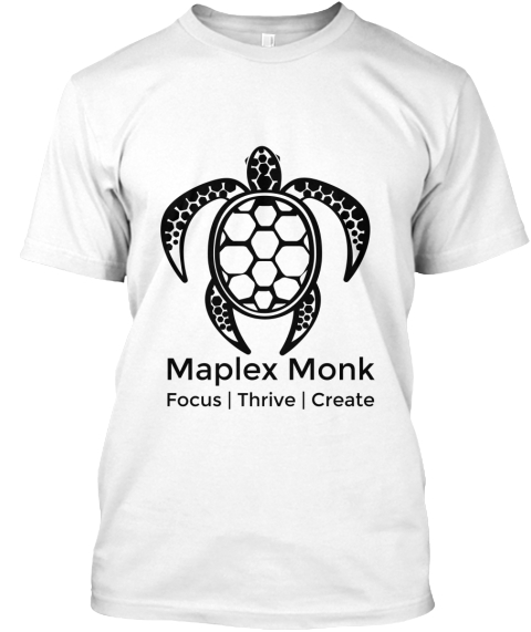 Get your own Maplex Monk - Turtle Mantra Tee!