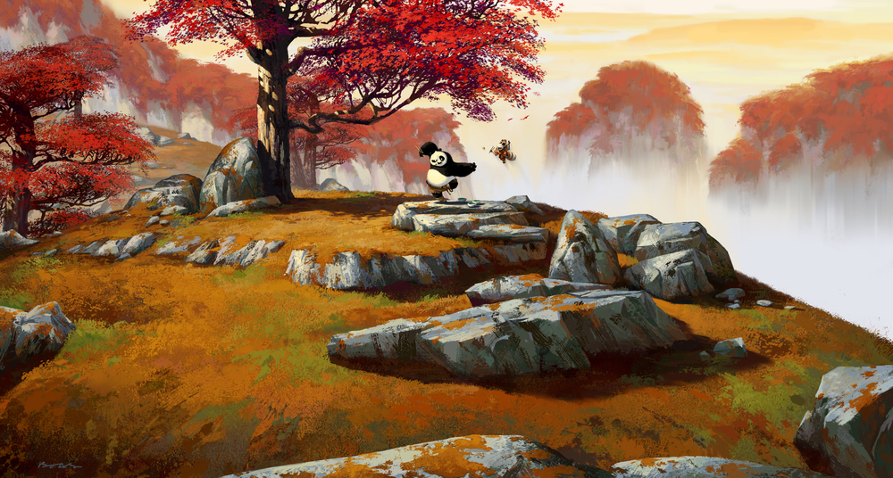 Kung Fu Panda, DWA Concept painting - Dumpling fight location