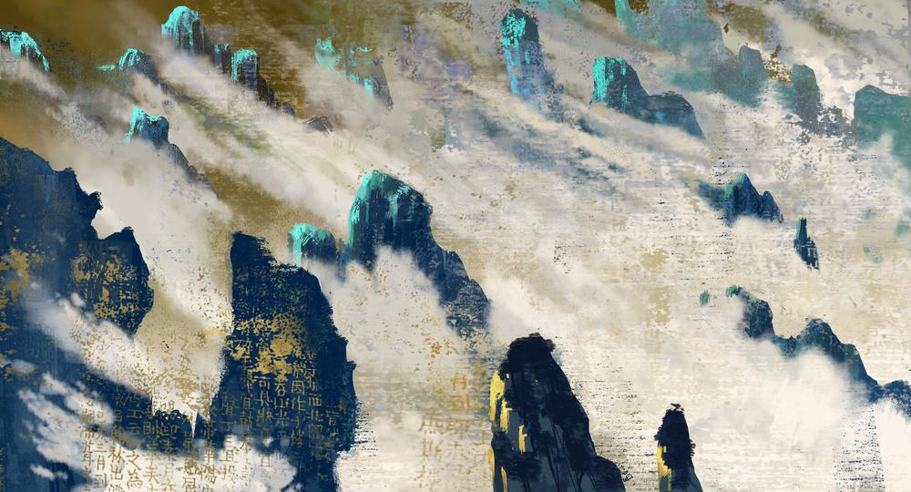 Kung Fu Panda, DWA Concept painting