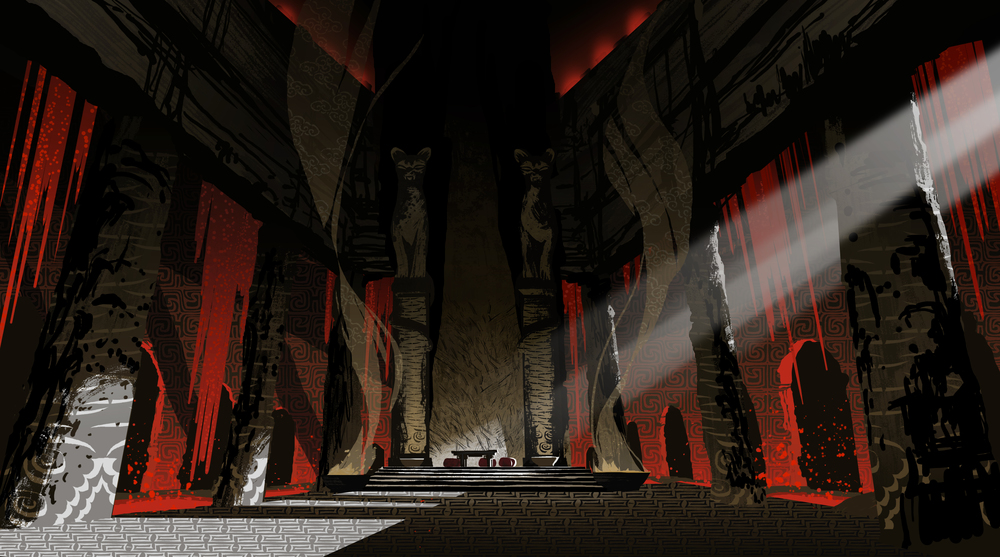Secrets of The Masters, KFP2 Featurette Concept painting - Final BG