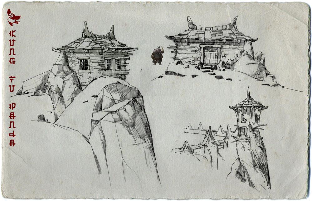 Kung Fu Panda, DWA Prison hut design