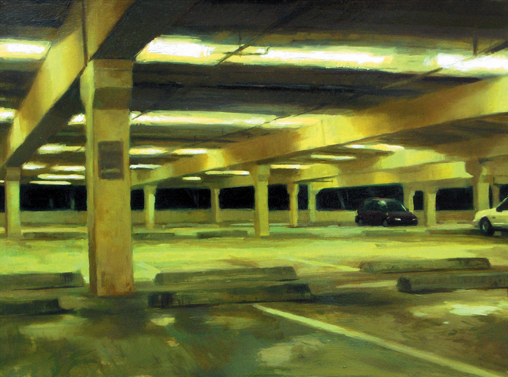 """Parking"" Oil on panel 10"" X 12"""