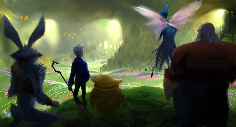 Rise of The Guardians, DWA Concept painting - Bunnymund location