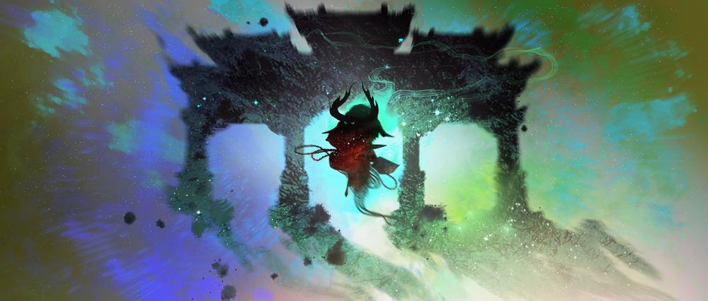 Kung Fu Panda 3, DWA Concept painting - Spirit Realm