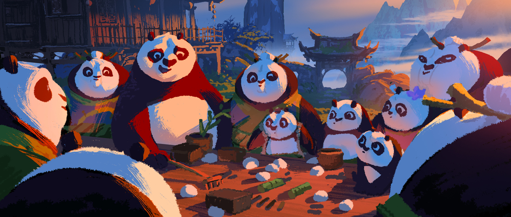 Kung Fu Panda 3, DWA Color key - Panda Village