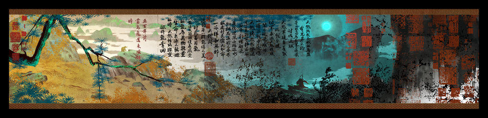 Kung Fu Panda 3, DWA Concept painting 2d seq - Scroll art