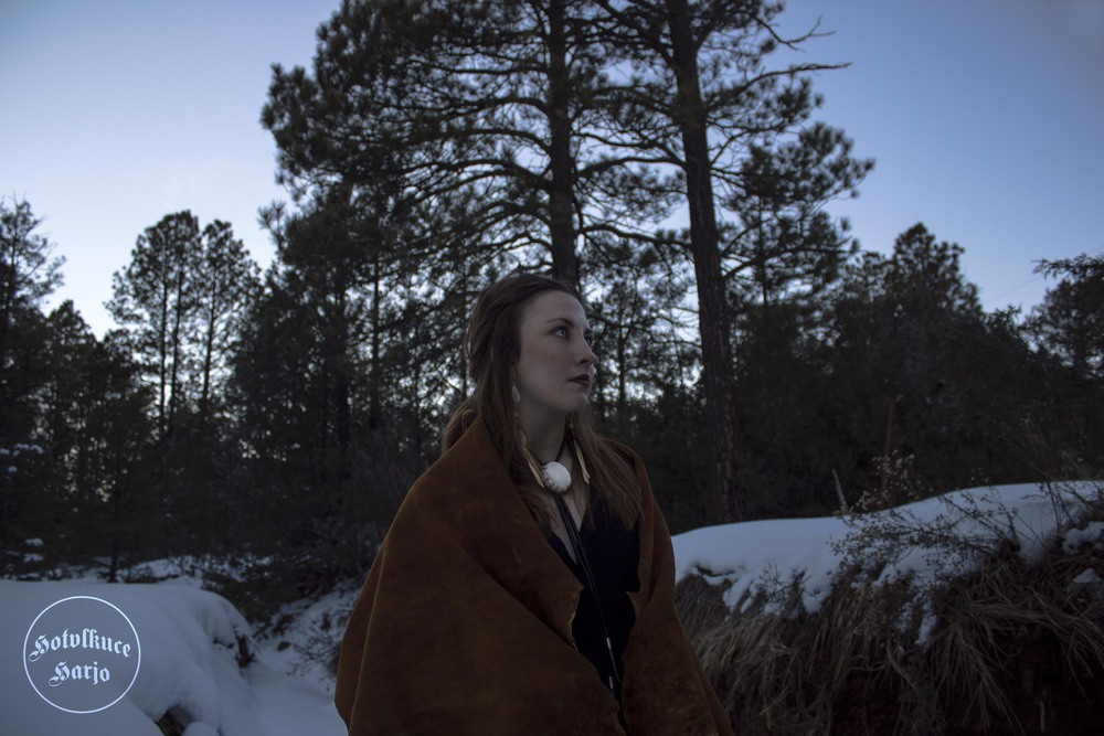 "After seeing ""The Revenant,"" Sasha LaPointe and her friends captured these images of themselves. As LaPointe says ""there is a power in visibility."" (Photo by Hotvlkuce Harjo)"